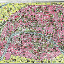 Paris Map ca 1920 - Jon Neidert