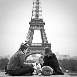 Paris  Place du Trocadero near Eiffel Tower. by Cyril Jayant