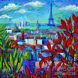 Mona Edulesco - Paris Rooftops - View From Printemps Terrace