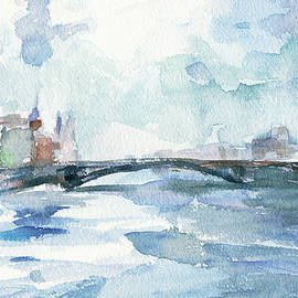 Paris Seine Shades Of Blue by Beverly Brown