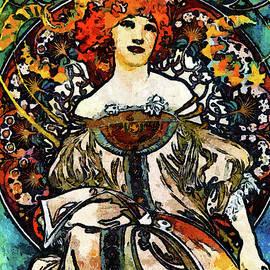 Georgiana Romanovna - Parisian Lady Van Gogh Style Expressionism