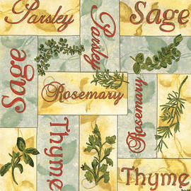 Parsley Collage by Debbie DeWitt
