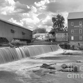 Adam Jewell - Partly Cloudy Over The Bridgeton Spillway Black And White