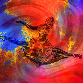 Passion of the Ballerina by Abstract Angel Artist Stephen K