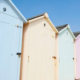 Helen Northcott - Pastel Coloured Beach Huts