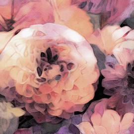 Susan Maxwell Schmidt - Pastel Dahlias in Watercolor