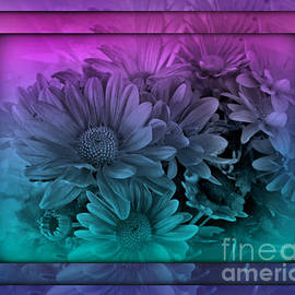 Pastel Garden Dawn - Stained Glass Series by Miriam Danar