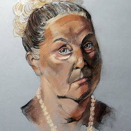 Greta Corens - Pastel Portrait of a Lovely Older Woman