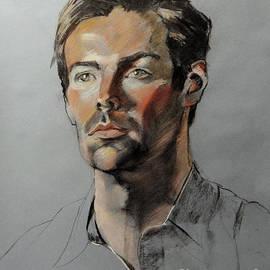 Greta Corens - Pastel Portrait of Handsome Guy