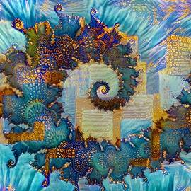 Patchwork Spiral by Amanda Moore