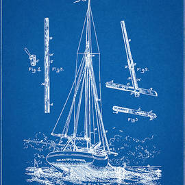 Unique Reproductions - Patent 1887 Sailing Yacht - Boom for Yacht - Blueprint