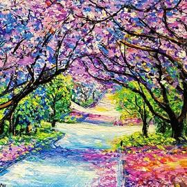 Path of Jacaranda Trees by Jessica T Hamilton