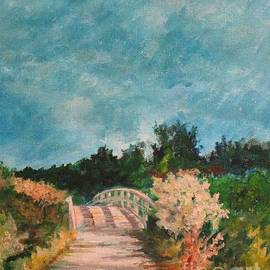 Path Over the Bridge at Robinson Preserve by Barbara Moak
