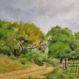 Path to Lower Pasture by Barbara Moak