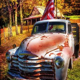Patriotic Chevy Truck by Debra and Dave Vanderlaan