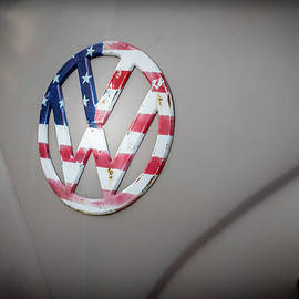 Patriotic Volkswagen Bus by Georgia Fowler