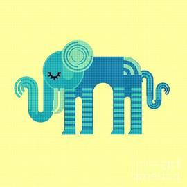 Pattern Elephant by Vix Edwards