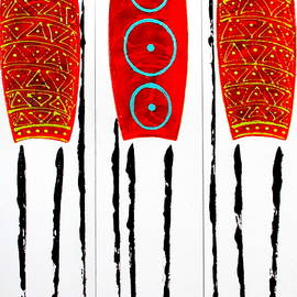 Tracey Armstrong - Patterned Masai Triptych