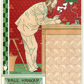 Studio Grafiikka - Paul Hankar - Architecte - Vintage Art Nouveau Poster