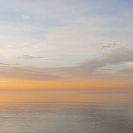 Peace and Quiet in Soft Pinks Oranges and Blues by Georgia Mizuleva