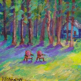 Peggy Johnson - Peaceful Forest- Miniature Painting