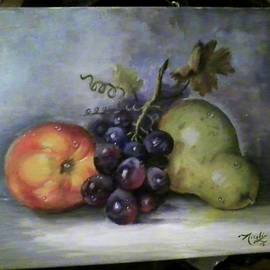 Peaches, grapes and pear