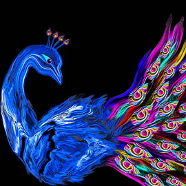 Abstract Angel Artist Stephen K - Peacock Love Dance