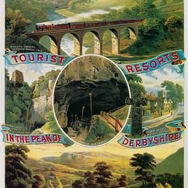 Studio Grafiikka - Peak Of Derbyshire - Midland Railway - Retro travel Poster - Vintage Poster