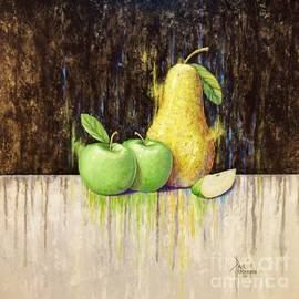 Pear and Apples by Paul Henderson