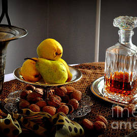 Pears and Walnuts Still Life by Tatyana Searcy
