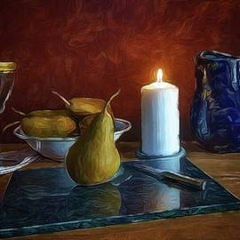 Pears By Candlelight by Mark Fuller