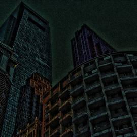 Pedestrian Urban Sunset by Vincent Green