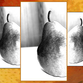 Gretchen Wrede - Peek A Boo Pears in Black and White