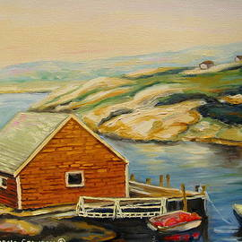 Peggys Cove  Harbor View by Carole Spandau