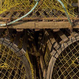 Pei Loberster Traps With Yellow Netting by Chris Bordeleau