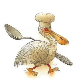 Pelican by Kestutis Kasparavicius