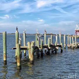 Luther Fine Art - Pelican Row at Fernandina  Beach