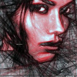 Rafael Salazar - Pencil Sketch in Black and Red