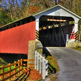 Michael Mazaika - Pennsylvania Country Roads - Mercers Mill Covered Bridge No. 2A - Chester - Lancaster Counties