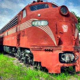 Pennsylvania Railroad Engine # 5888 by Mel Steinhauer