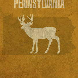 Design Turnpike - Pennsylvania State Facts Minimalist Movie Poster Art