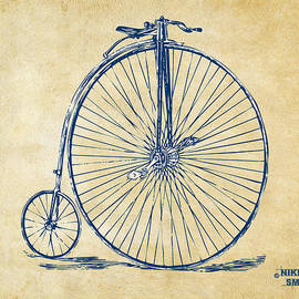 Penny-Farthing 1867 High Wheeler Bicycle Vintage by Nikki Marie Smith