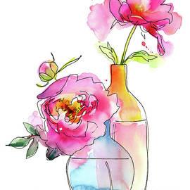 Peony in vases - John Keeling