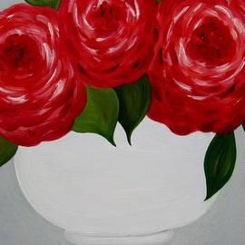 Peony in White Vase by Hiedi Schmitz