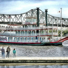 Peoria River Boat In September by Thomas Woolworth