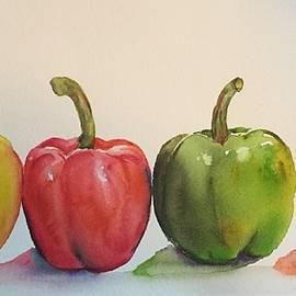 Peppers Four by Diane Ziemski