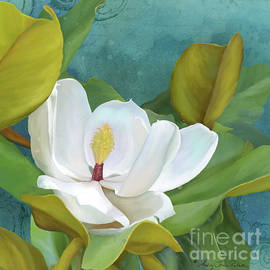 Perfection - Magnolia Blossom Floral - Audrey Jeanne Roberts