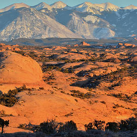 Petrified Sand Dunes Of Arches Np by Ray Mathis
