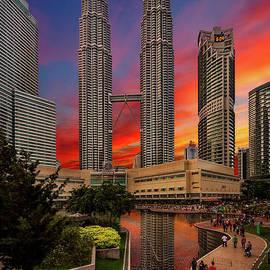 Adrian Evans - Petronas Towers Sunset