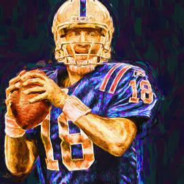 David Haskett - Peyton Manning Indianapolis Colts NFL Football Painting Digital